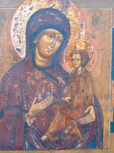 16th century icon gallery after the Madonna and child con was restored